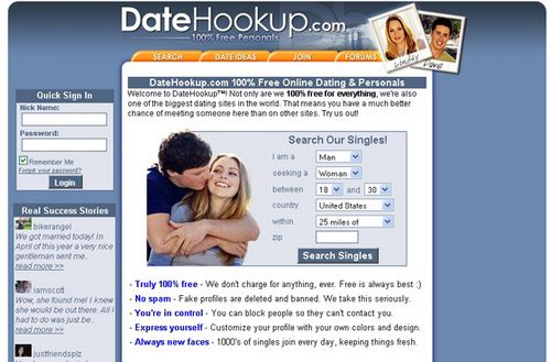 Free internet hookup sites